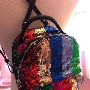 Betsy Johnson Small Rainbow Backpack